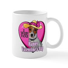 Jack Russell Valentines Mug