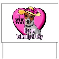 Jack Russell Valentines Yard Sign