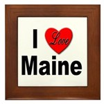 I Love Maine Framed Tile