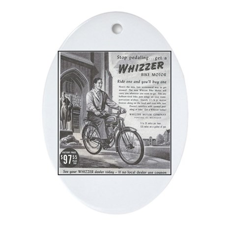 """1946 Whizzer Ad"" Oval Ornament"