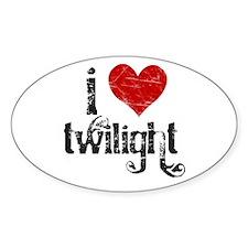 I Love Twilight Oval Decal