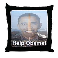 Help Obama Throw Pillow