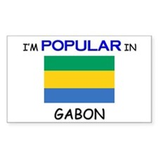 I'm Popular In GABON Rectangle Decal