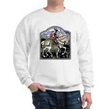 Knight and Maiden on Horseback Sweatshirt