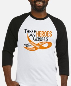 Heroes Among Us KIDNEY CANCER Baseball Jersey