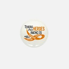 Heroes Among Us KIDNEY CANCER Mini Button (10 pack