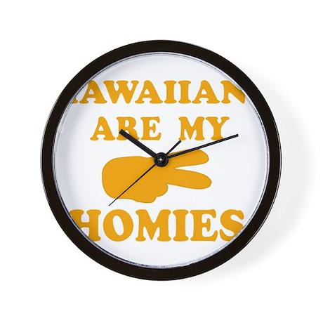 Hawaiians are my homies Wall Clock