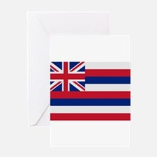 Beloved Hawaii Flag Modern St Greeting Card