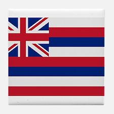 Beloved Hawaii Flag Modern St Tile Coaster