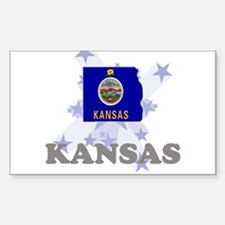 All Star Kansas Rectangle Decal