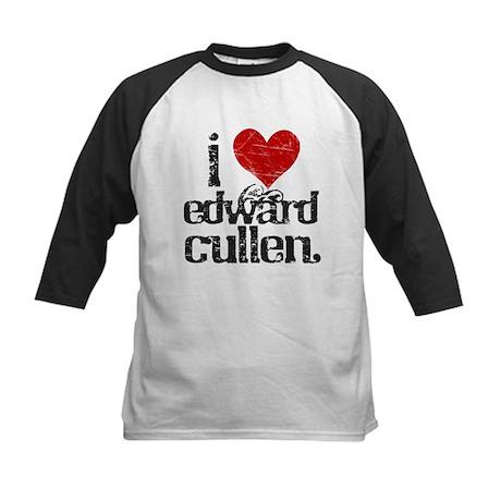 I Love Edward Cullen Kids Baseball Jersey