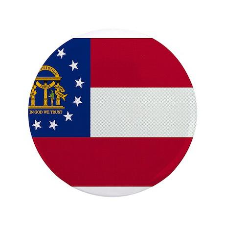 """Beloved Georgia Flag Modern S 3.5"""" Button"""