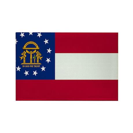 Beloved Georgia Flag Modern S Rectangle Magnet