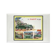 """""""1946 Plymouth Ad"""" Rectangle Magnet"""