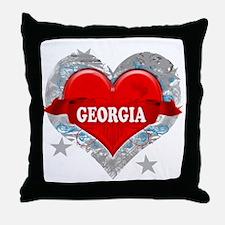 My Heart Georgia Vector Style Throw Pillow