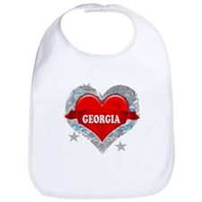 My Heart Georgia Vector Style Bib