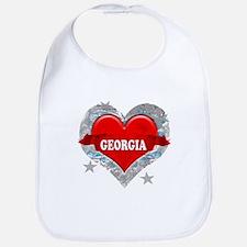 My Heart Georgia Vector Style Bib