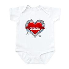 My Heart Georgia Vector Style Infant Bodysuit