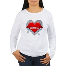 My Heart Georgia Vector Style T-Shirt