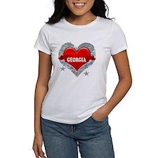 My Heart Georgia Vector Style Tee