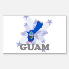 All Star Guam Rectangle Decal