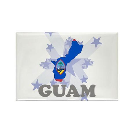 All Star Guam Rectangle Magnet