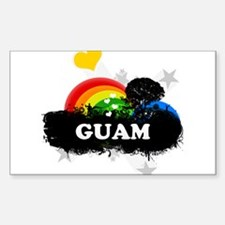 Sweet Fruity Guam Rectangle Decal