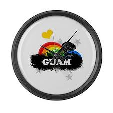 Sweet Fruity Guam Large Wall Clock