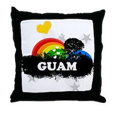 Sweet Fruity Guam Throw Pillow