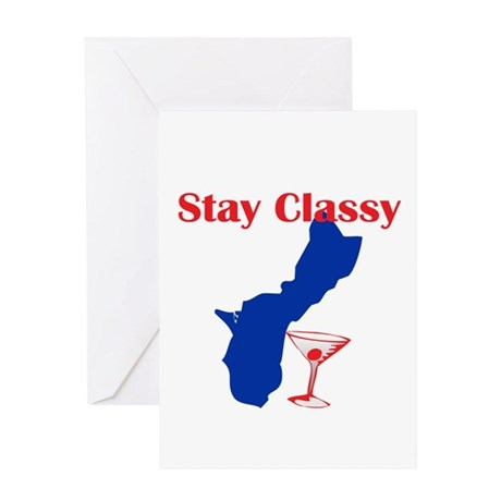 Stay Classy Guam Greeting Card