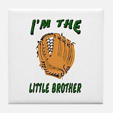 I'm the big brother baseball Tile Coaster