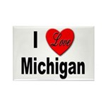 I Love Michigan Rectangle Magnet (10 pack)