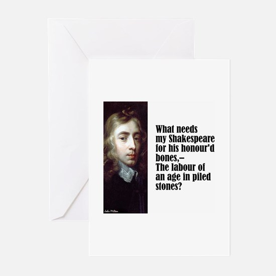 "Milton ""My Shakespeare"" Greeting Cards (Pk of 10)"