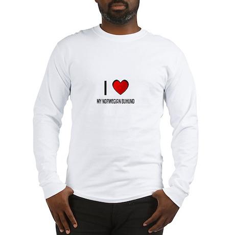 I LOVE MY NORWEGIAN BUHUND Long Sleeve T-Shirt