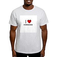 I LOVE MY NORWEGIAN BUHUND Ash Grey T-Shirt