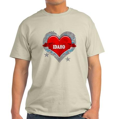 My Heart Idaho Vector Style Light T-Shirt