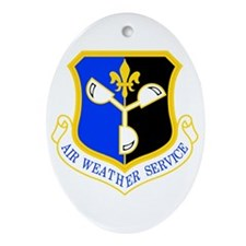Weather Service Oval Ornament
