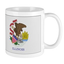 Beloved Illinois Flag Modern Mug