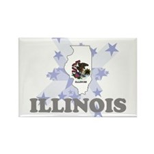 All Star Illinois Rectangle Magnet