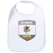 Illinois USA Crest Bib