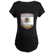 Illinois USA Crest T-Shirt