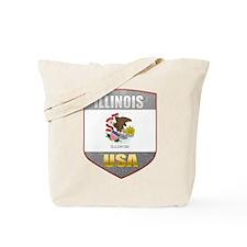 Illinois USA Crest Tote Bag