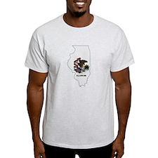Illinois Stripe Custom Design T-Shirt