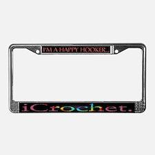 I'm The Happy Hooker/i Crochet License Plate Frame