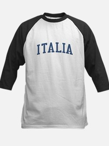 Italy Blue Kids Baseball Jersey