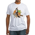 Vintage Halloween Witch Fitted T-Shirt