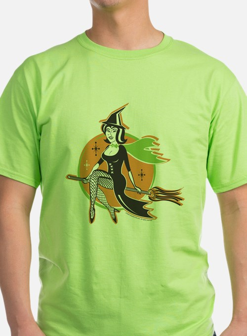 Vintage Halloween Witch T-Shirt