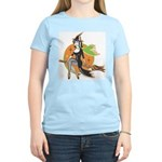 Vintage Halloween Witch Women's Light T-Shirt