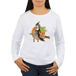 Vintage Halloween Witch Women's Long Sleeve T-Shir