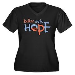 Born Into Hope - Obama Baby Women's Plus Size V-Ne